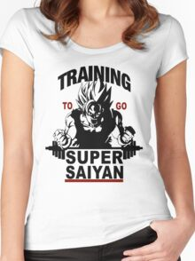 Training to go Super Saiyan Women's Fitted Scoop T-Shirt