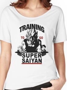Training to go Super Saiyan Women's Relaxed Fit T-Shirt
