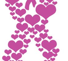 Breast - Hope, Faith and Love Sticker
