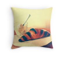 Greek Yougurt and Croissant Throw Pillow