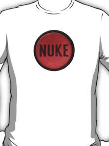 Red Nuke Button T-Shirt
