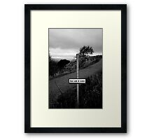 Stop, Look and Listen Framed Print