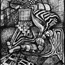 Man Resting By Window in a Field. by nawroski .