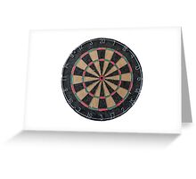 Isolated Dart Board Greeting Card