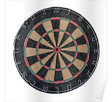 Isolated Dart Board Poster
