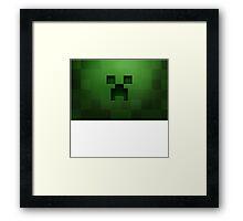 Minecraft Green Creeper Framed Print