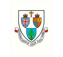 Fredericton Coat of Arms Art Print
