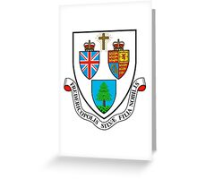 Fredericton Coat of Arms Greeting Card