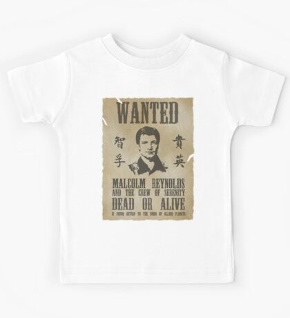 Wanted Captain  Kids Tee