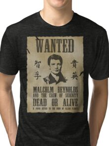 Wanted Captain  Tri-blend T-Shirt