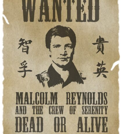 Wanted Captain  Sticker