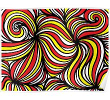 Kurkjian Abstract Expression Yellow Red Black Poster