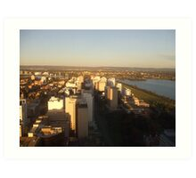 Perth - The Hills. St Martins Tower. Perth. Art Print