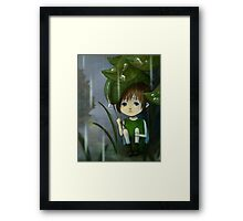 Waiting for the rain to pass Framed Print