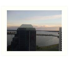 Top Of The Exchange Plaza. St Martins Tower. Perth. Art Print