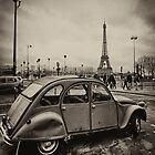 Citroen Blacka and white in Paris by GalbaSandras