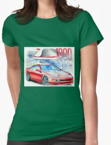 Nissan 300zx Classic Car Illustration Womens Fitted T-Shirt