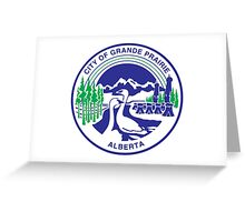 Seal of Grande Prairie Greeting Card