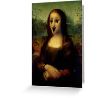 Haunted Mona Lisa Greeting Card