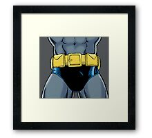 Batman Groin Framed Print