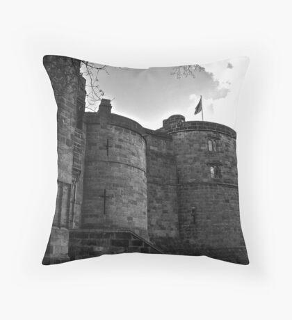 Skipton Castle Throw Pillow