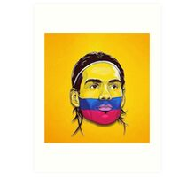 Falcao Colombia Art Print