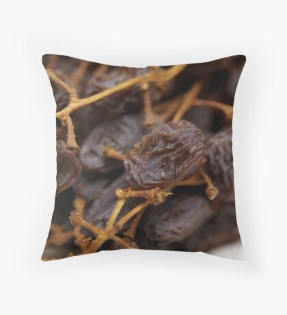 Dried Muscatels Throw Pillow
