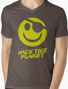 Hack the Planet!!! Mens V-Neck T-Shirt