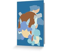 Squirtle Evolution Greeting Card