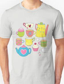 Teapots, cupcakes & more Unisex T-Shirt