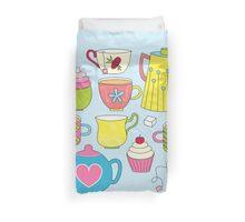 Teapots, cupcakes & more Duvet Cover