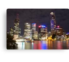 Brisbane CBD from Kangaroo Point 7 Canvas Print