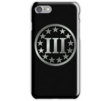 III%, Three percenter iPhone Case/Skin