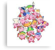 Kirbys!  Canvas Print