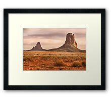 Navajo Nation Kayenta Monuments Framed Print