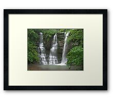 Twin Falls With an Added Touch, Arkansas Buffalo Wilderness Area Framed Print
