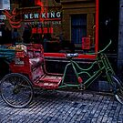 Red and green bike by GalbaSandras