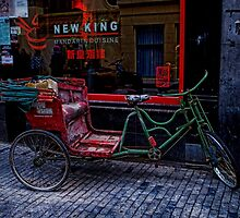Red and green bike by GalbaSandras