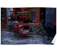 Red and green bike Poster