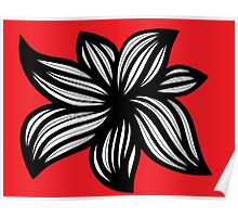 Chiappinelli Abstract Expression Red White Black Poster