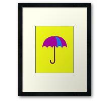 Bright Umbrella Framed Print