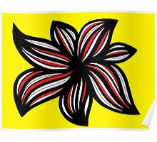 Seley Abstract Expression Yellow Red Black Poster