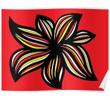 Mau Abstract Expression Yellow Red Black Poster
