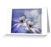 Clematis Blue Moon Greeting Card