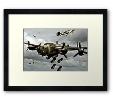 Flying Bomber Framed Print