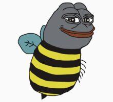 Smug Pepe Frog Bee by kendokoala
