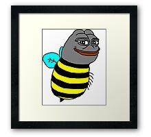 Smug Pepe Frog Bee Framed Print