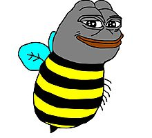 Smug Pepe Frog Bee Photographic Print