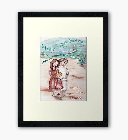 Make Up Your Mind  Manly Arts Festival Framed Print