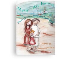 Make Up Your Mind  Manly Arts Festival Canvas Print